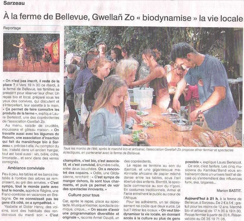 Ti Ferm Bellvue sur Ouest France