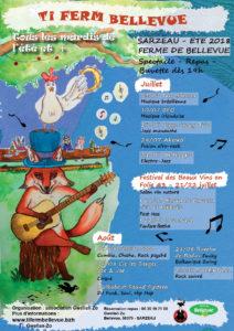 Affiche 2018 mardi de l'été Gwellanzo Ti Ferm Bellevue